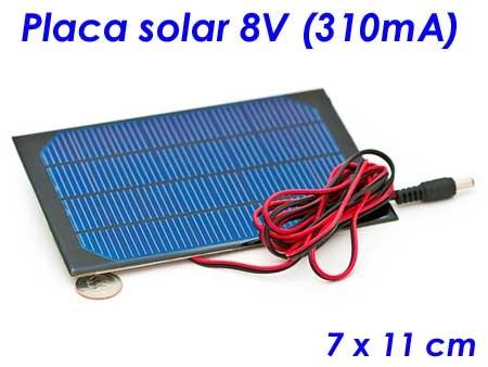 Tienda: Placa solar 8V - 310mA