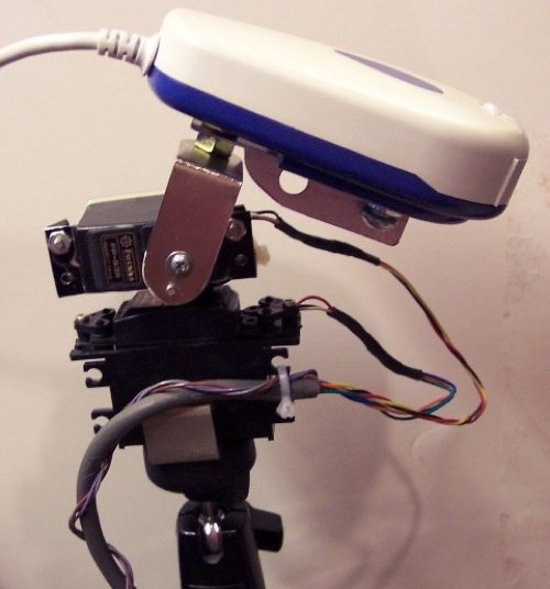 Monta 2 ejes de control a tu Webcam
