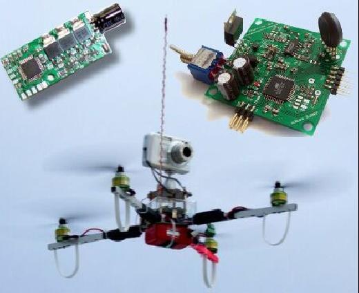 (Video) MikroKopter: El helicópetro Quadrokopter