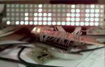 Analizador de espectro con matriz de LED