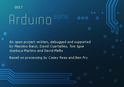 Arduino versión 017 ya disponible