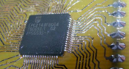 Protoboard casera para ARM7 LPC2148