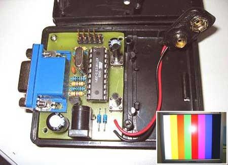 Generador de patron de video VGA con ATtiny2313