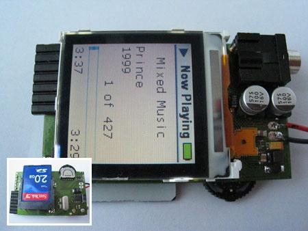 MP3stick: Otro reproductor MP3 casero