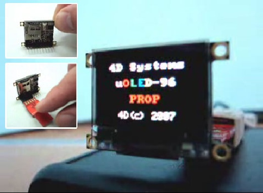 (Video) uOLED-96-PROP: Pantalla OLED con chip Propeller