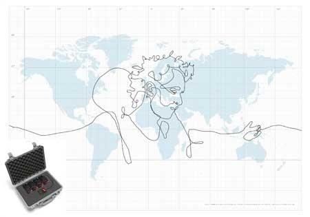 (Video) El retrato más grande del mundo hecho con GPS