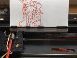Máquina de escribir convertida a plotter CNC con Arduino