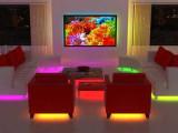 Salón tuneado con diodos LED de colores